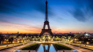 Фото бесплатно ночь, небо, Париж
