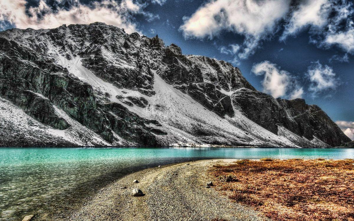 Обои вода, небо, камни картинки на телефон
