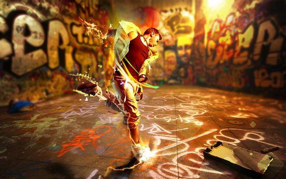 Бесплатные фото графити,человек,мужчина,краски,стены,надписи,валик,разное
