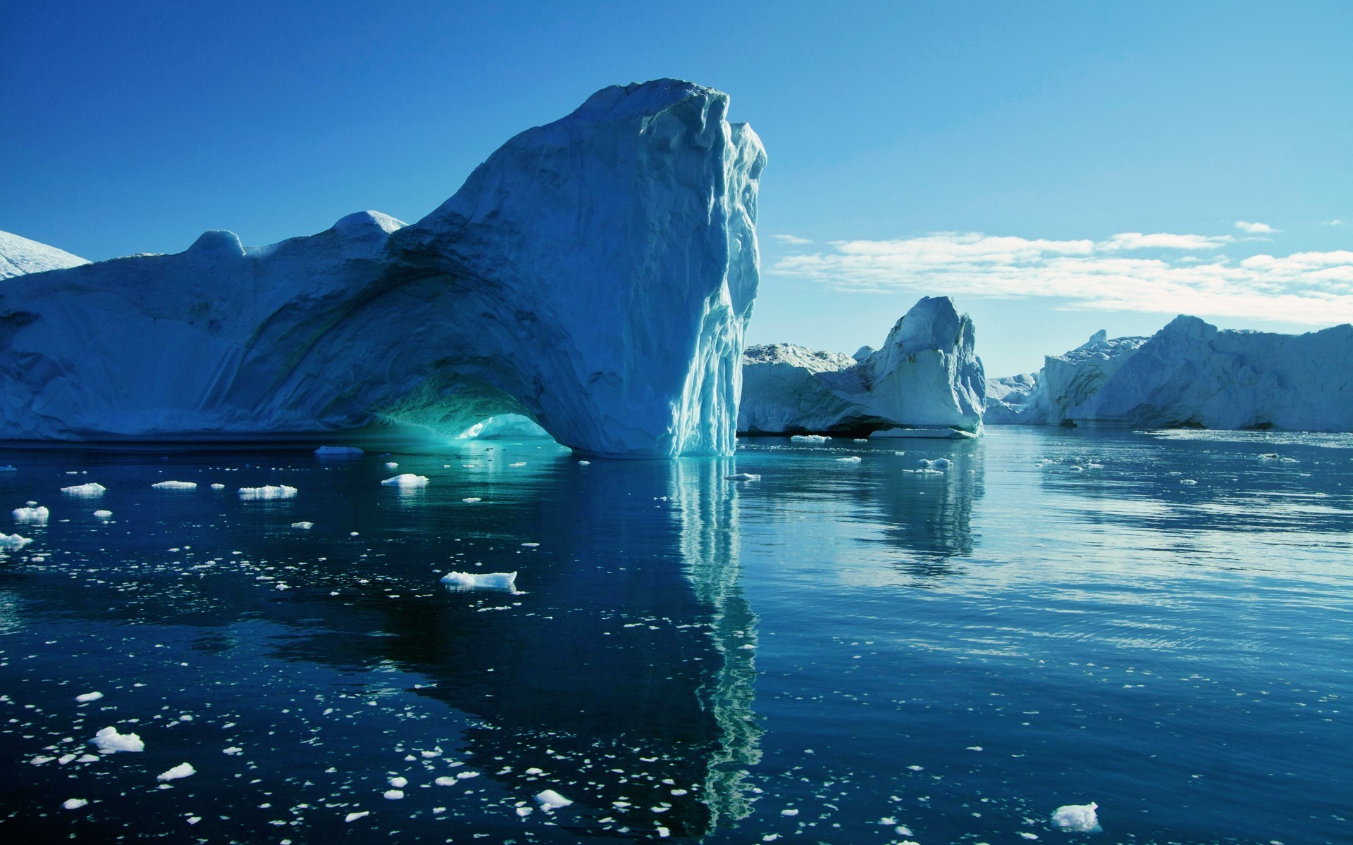 природа айсберг море горизонт nature iceberg sea horizon  № 3510952 бесплатно