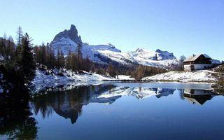 Фото бесплатно зима, крыши, лес