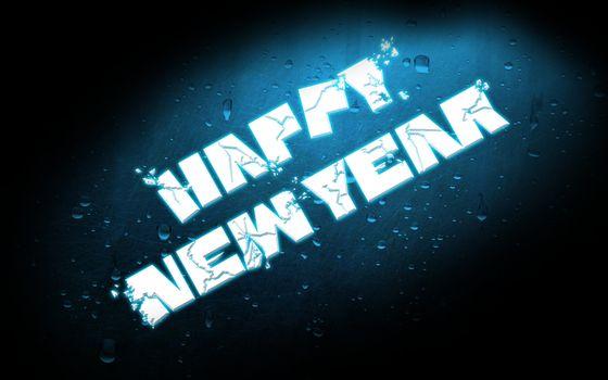 Бесплатные фото поздравление,новый,год,happy,new,year,табличка,надпись,капли,пузыри,вода,стекло