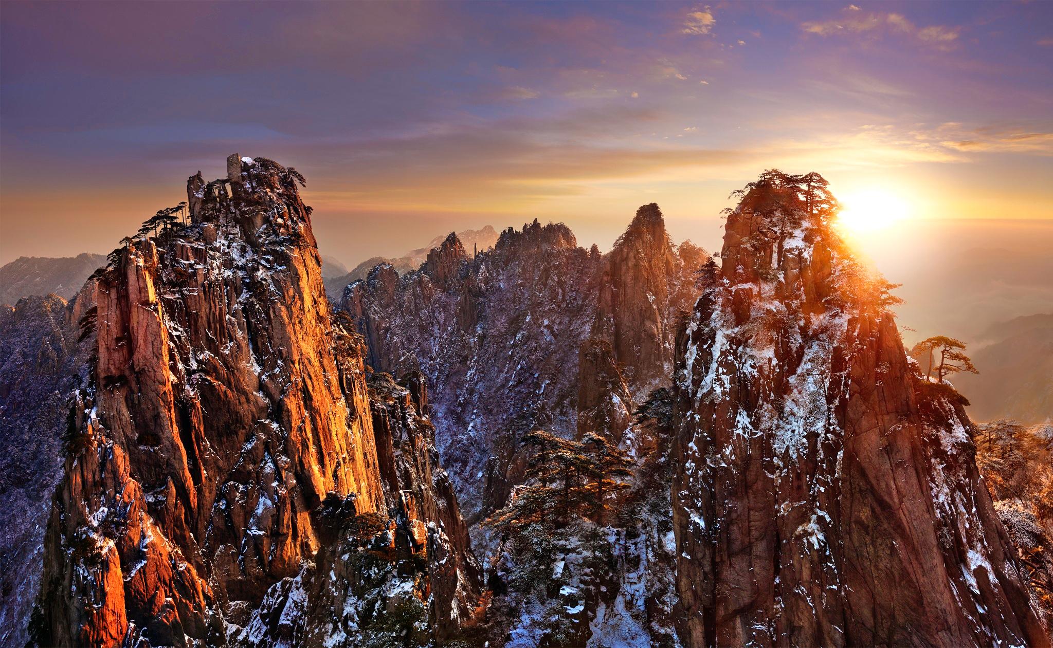 природа, горы, солнце