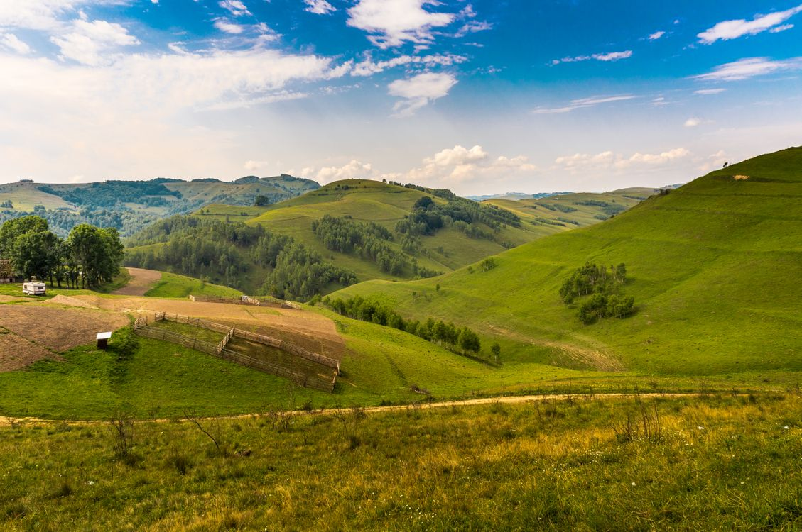 Фото бесплатно Румыния, горы, холмы - на рабочий стол