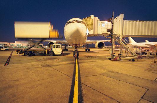 Photo free airplane, landing, strip