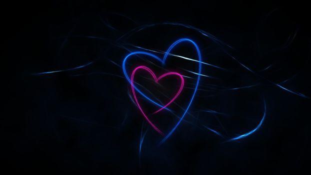 Фото бесплатно серца, разноцветные, свет