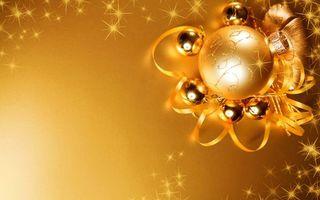 Обои шары, украшение, узор, праздник, рисунок, блеск, звезды, лента, новый год