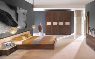 Фото бесплатно спальня, кровать, шкаф