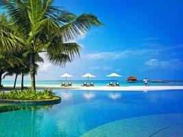 Фото бесплатно Мальдивы, тропики, пейзажи