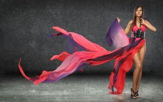 Заставки women, dress, colors, long, model, legs, девушки