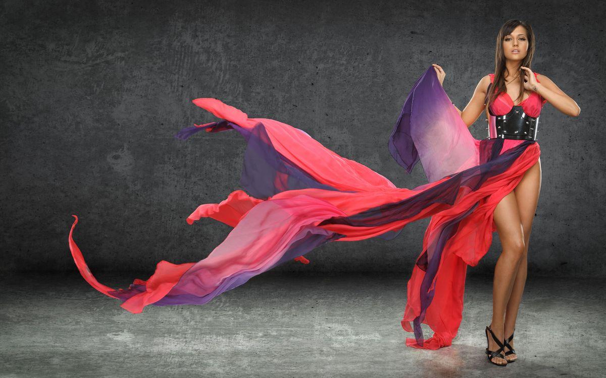 Фото бесплатно женщины, платье, цвета - на рабочий стол
