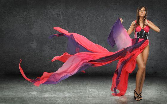 Фото бесплатно женщины, платье, цвета