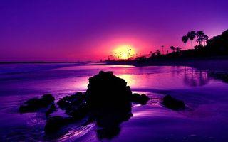 Бесплатные фото закат солнца, берег моря