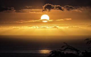 Фото бесплатно закат, пейзажи, облака