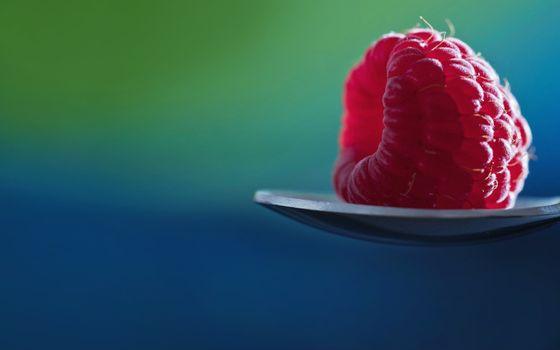 Фото бесплатно малнина, ложка, ягода