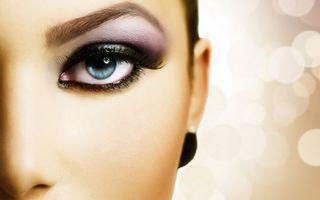 Бесплатные фото зрачок,макияж,ресницы,лицо,тени,глаз,половина