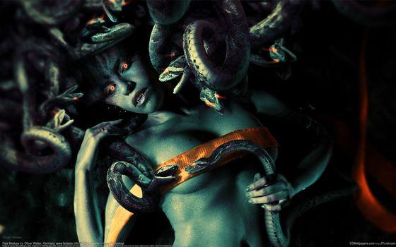 кровь, oliver wetter, арт, змея, клыки