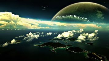 Бесплатные фото новый мир, вода, кислород, океан, острова, деревья, облака