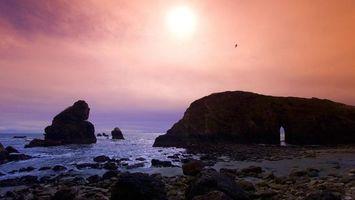 Фото бесплатно природа, солнце, скалы