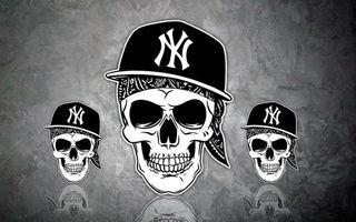 Фото бесплатно черепа, кепка, музыка