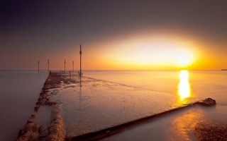 Бесплатные фото дамба,море,залив,бетон,фонарь,ограждение,туман