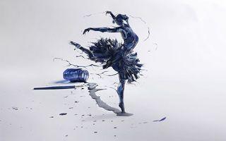 Бесплатные фото рисунок, чернила, перо, балерина, белый, фон, разное