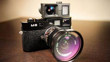 Заставки фотоаппарат, объектив, вспышка