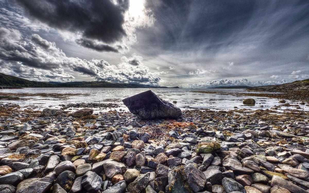 Фото бесплатно камни, небо, тучи - на рабочий стол
