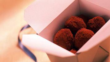 Заставки коробка, шоколад, лента