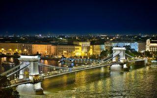 Фото бесплатно город, река, мост