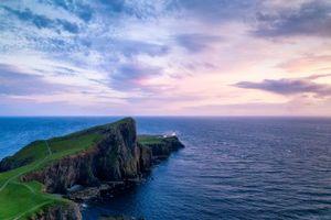 Бесплатные фото Neist Point,Скай,Шотландия,море,маяк,закат,пейзаж