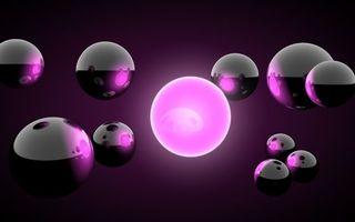 Бесплатные фото шарики,металл,отражение,сиреневый,фон,3d графика
