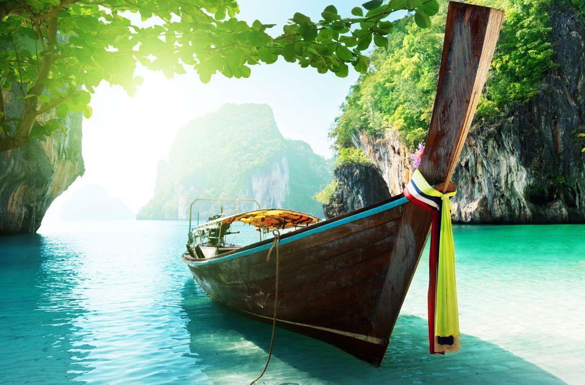 Photos for free landscapes, rocks, boat - to the desktop