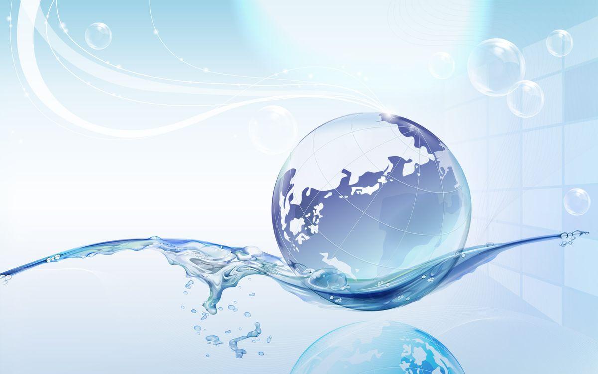 Фото бесплатно вода, макет, земля, глобус, отражение, пузыри, узоры, разное, разное