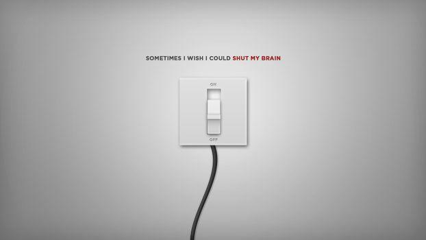 Заставки выключатель, стена, белый