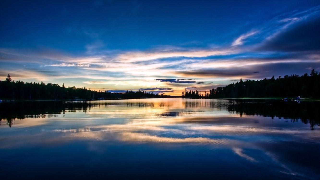 Фото бесплатно закат, река, речка - на рабочий стол