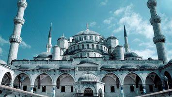 Бесплатные фото палац,білий,іслам,вежі,небо,синій,город