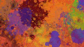 Заставки abstraction, splatter, цвета, брызги, colors, краски, абстракция