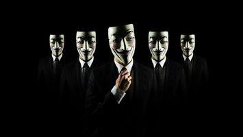Бесплатные фото полумрак,anonymous,много,анонимус