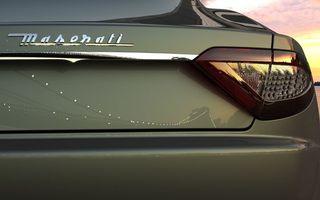Фото бесплатно автомобиль, зеленый, багажник, фары, зад, небо, вечер, улица, мозератти, машины