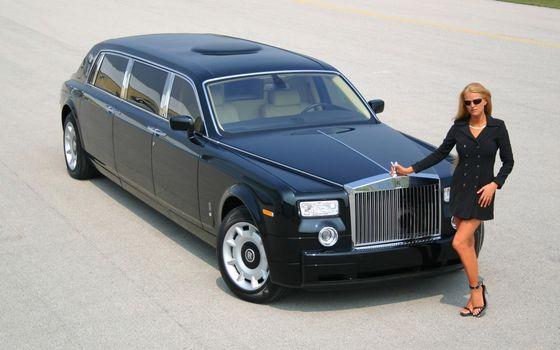 Бесплатные фото черный,ролс ройс,большой,девушка,строгая,красивая,машины