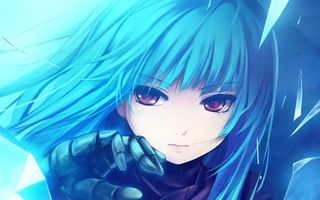Фото бесплатно девочка, волосы, голубые
