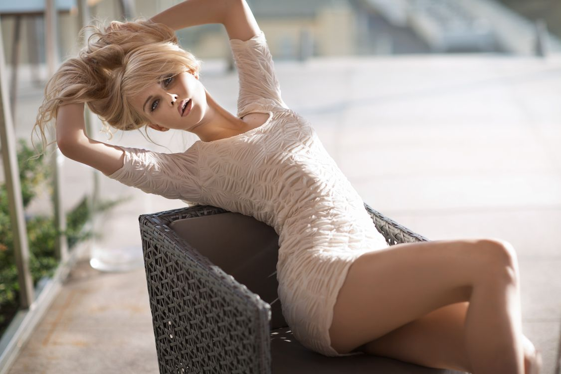 Фото бесплатно девушка, блондинка, фотосет - на рабочий стол