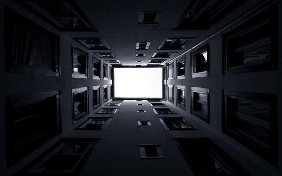 Бесплатные фото дом,окна,стекла,кирпич,стены,небо,вид,город