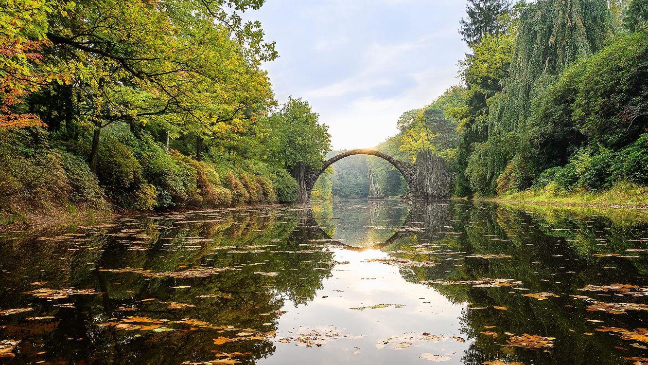 Обои Германия, Мост Ракотцбрюке в Германии, Чертов мост, Ракотцбрюке картинки на телефон