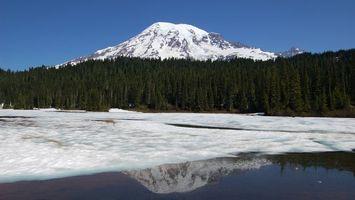 Заставки гора, снег, зима