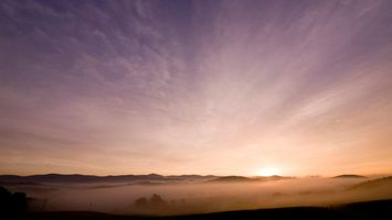 Бесплатные фото горы,холмы,деревья,далеко,свет,лучи,небо
