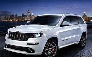 Заставки jeep, внедорожник, белый, фары, тонировка, диски, машины