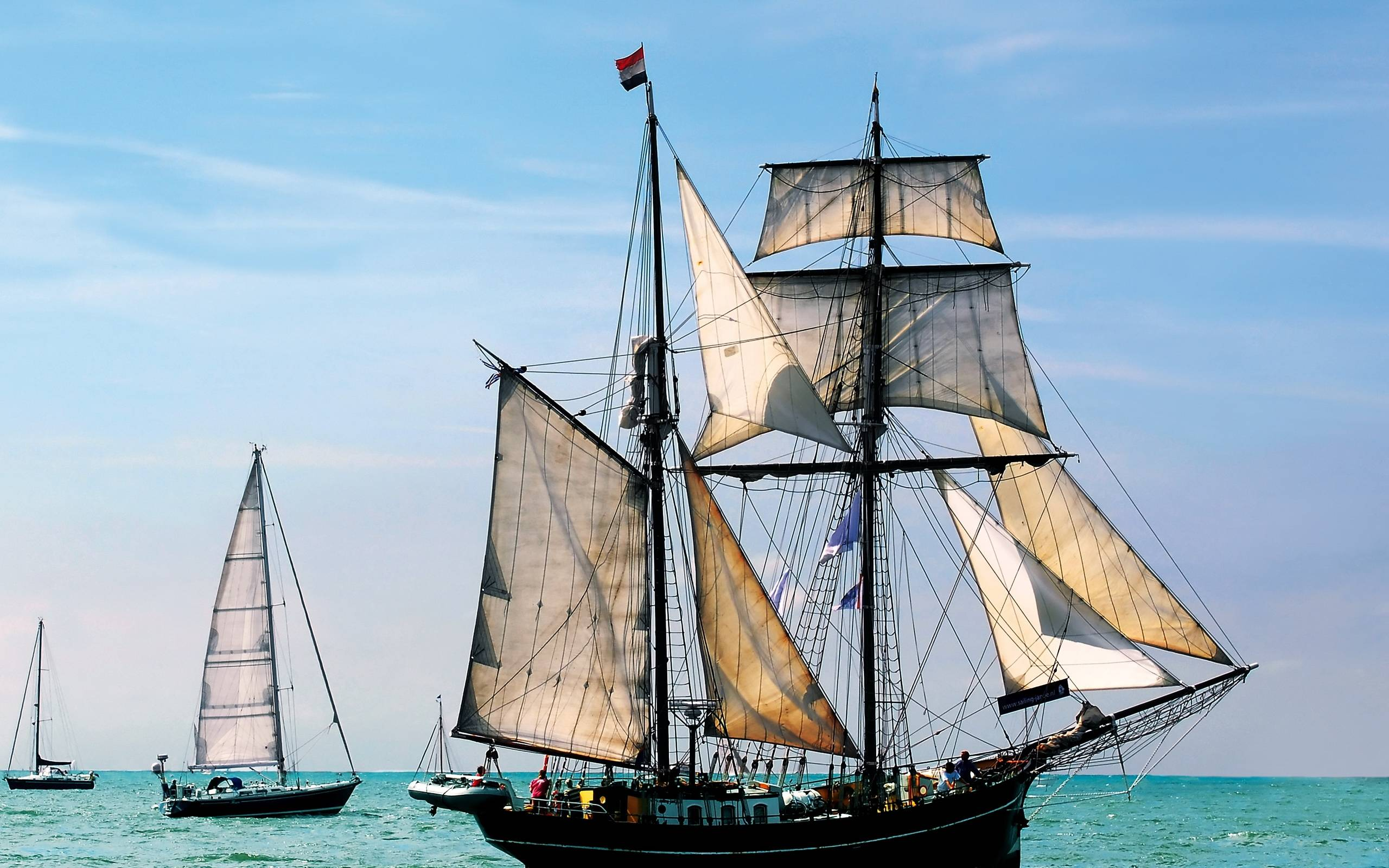 Обои корабль, парусник, лодки