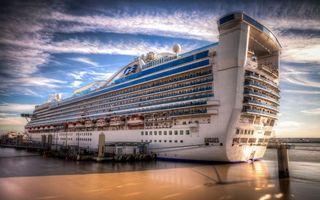Заставки корабль,теплоход,крейсер,плыть,небо,облака,вода